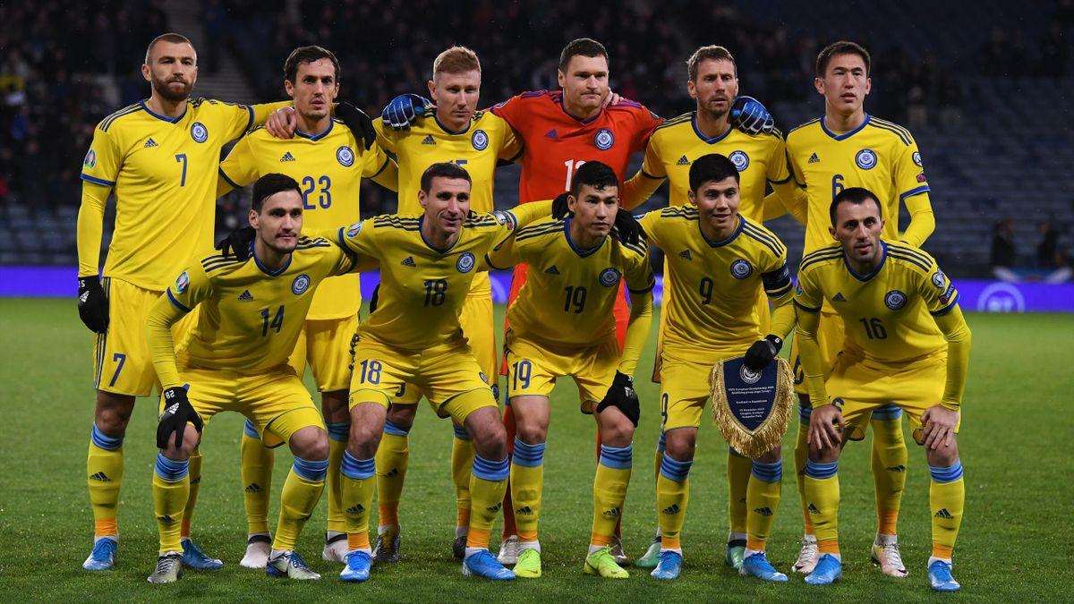 L'équipe du Kazakhstan face à l'Ecosse - Qualifications Euro 2020