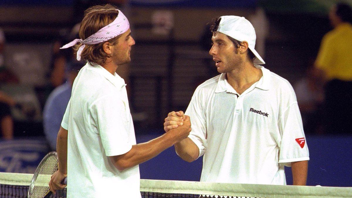 Arnaud Clément et Sébastien Grosjean, Open d'Australie 2001.