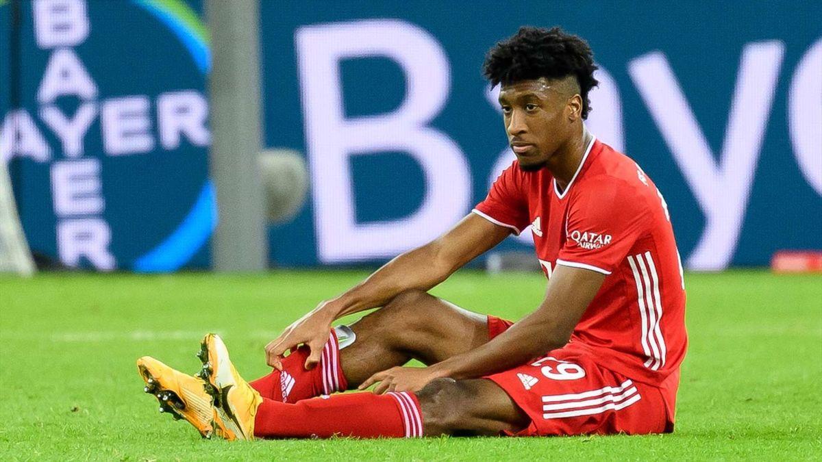 Kingsley Coman im Spiel gegen Bayer Leverkusen