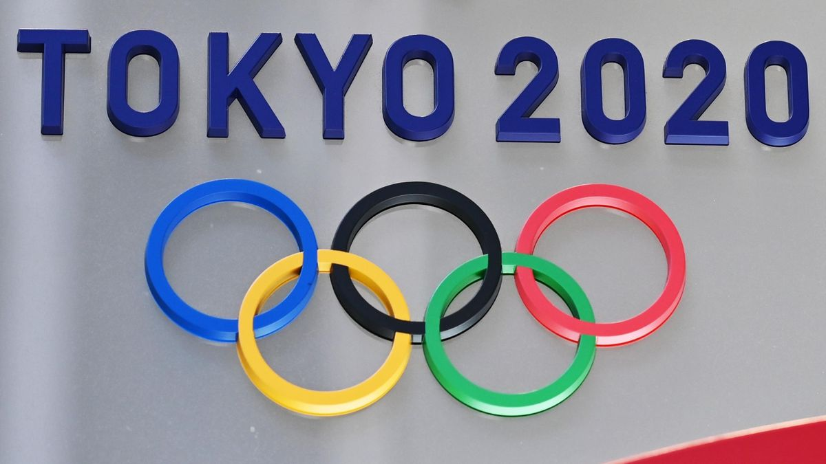 The logo for the Tokyo 2020 Olympic Games is seen in Tokyo on March