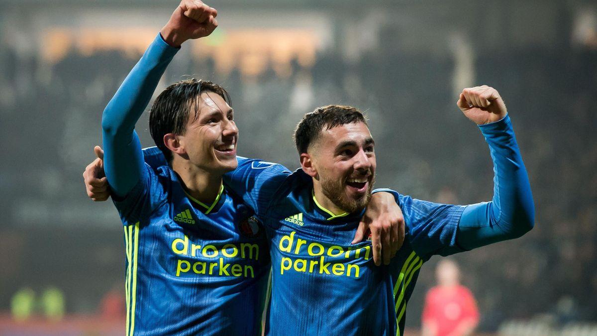 Steven Berghuis și Orkun Kokcu de la Feyenoord
