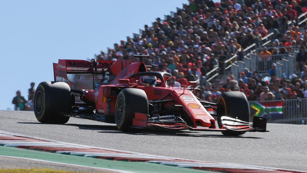 Ferrari-Pilot Sebastian Vettel in Austin