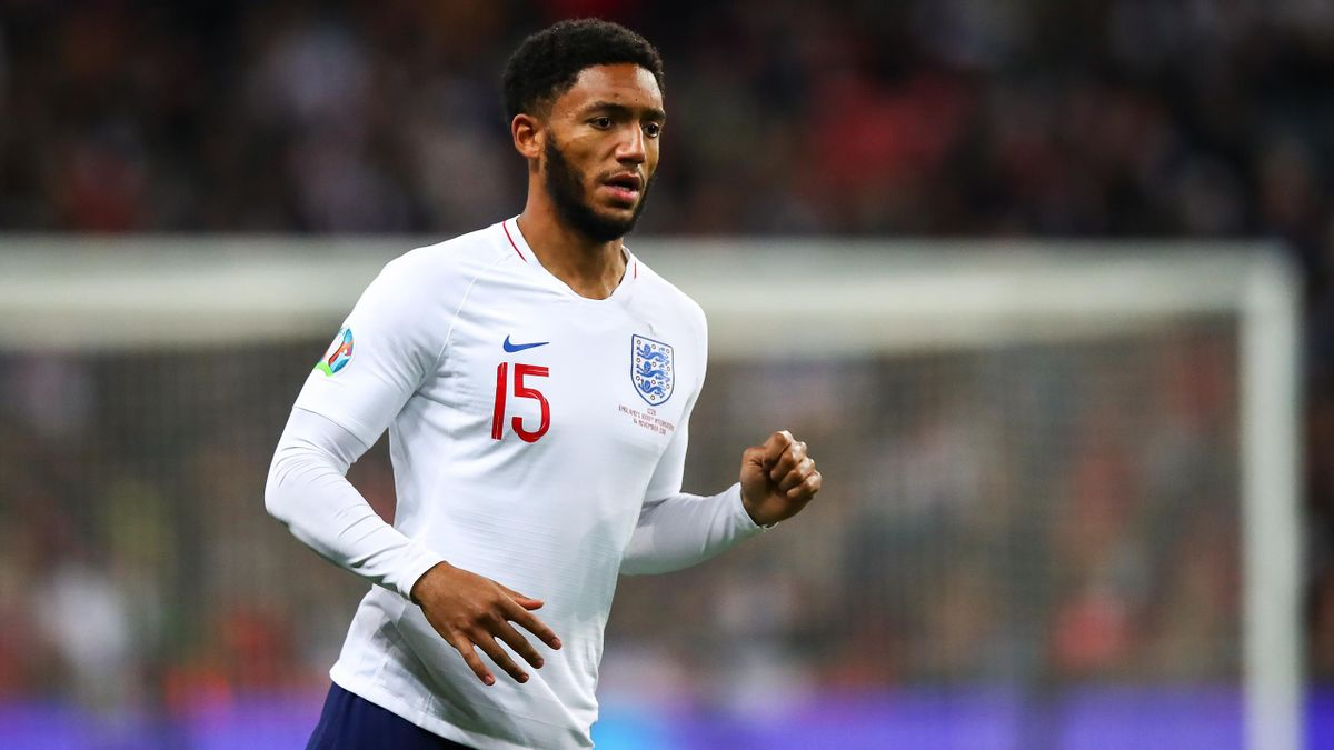 LONDON, ENGLAND - NOVEMBER 14: Joe Gomez of England during the UEFA Euro 2020 qualifier between England and Montenegro at Wembley Stadium on November 14, 2019 in London, England. (Photo by Robbie Jay Barratt - AMA/Getty Images)