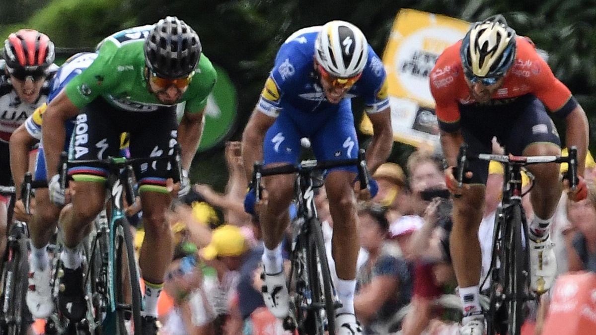 Sagan, Gilbert en Colbrelli in etappe 5 Tour de France