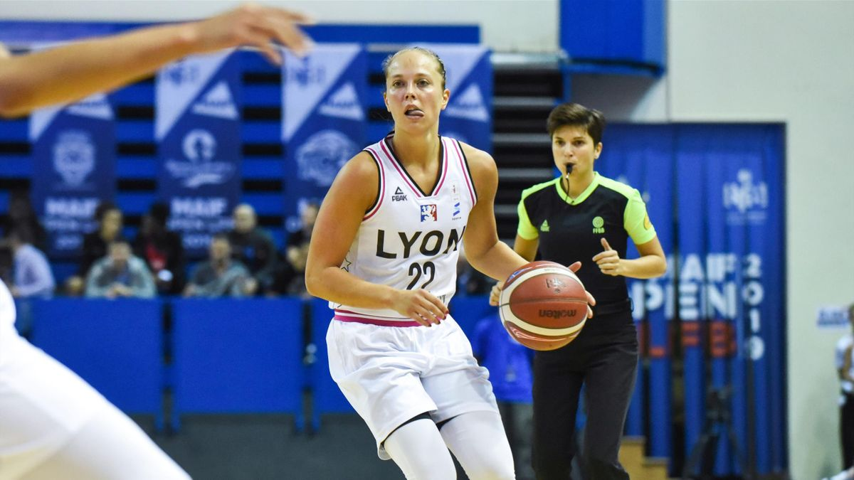 Julie Allemand lors du match ASVEL-Bourges en 2019