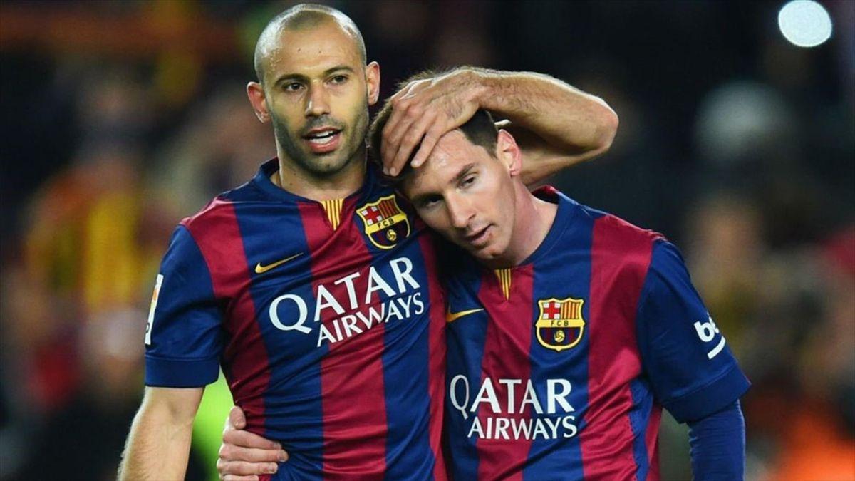 Mascherano y Messi