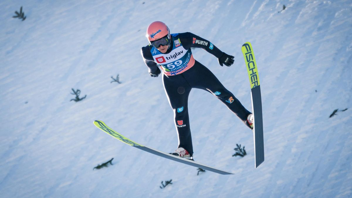 Karl Geiger in Planica in Aktion