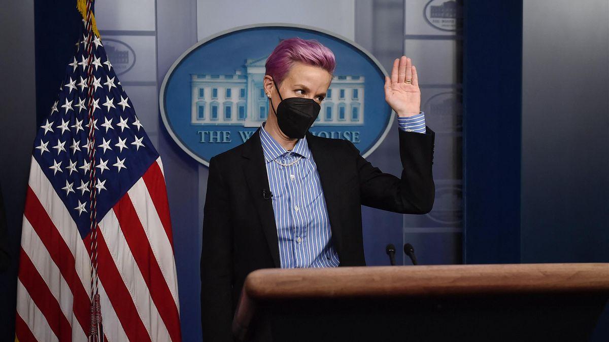 Капитан женской сборной США Меган Рапино в Белом доме