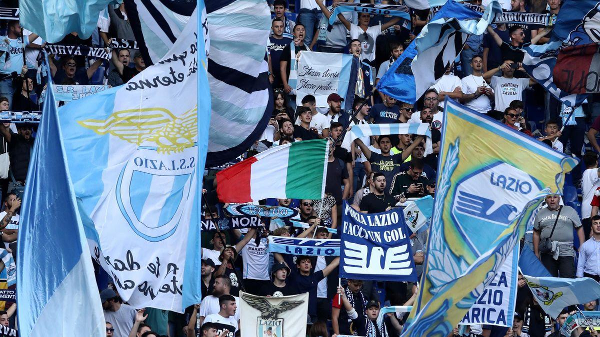 Lazio 'ultras' at the Stadio Olimpico