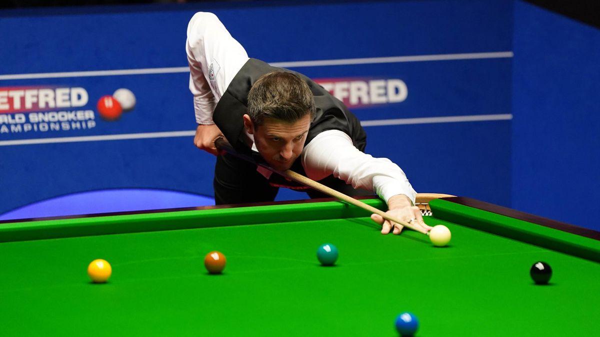 Mark Selby im Finale der Snooker-WM 2021