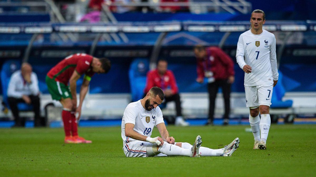 Frankreichs Karim Benzema hat sich im Testpiel gegen Bulgarien verletzt