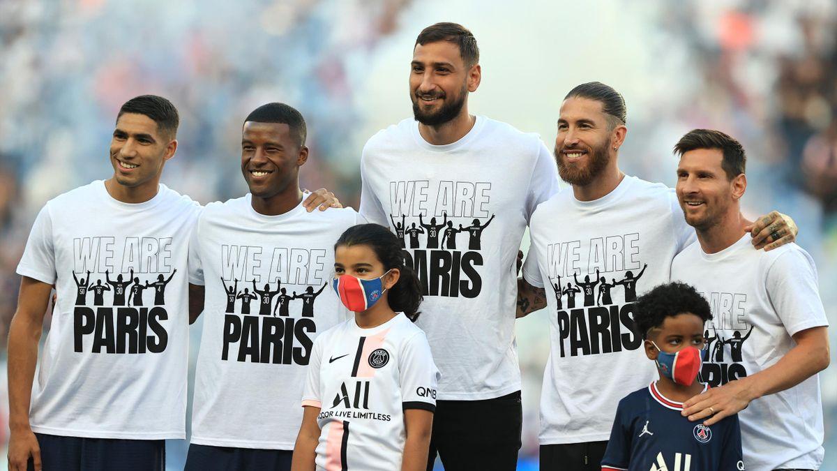 Hakimi, Wijnaldum, Donnarumma, Sergio Ramos și Messi