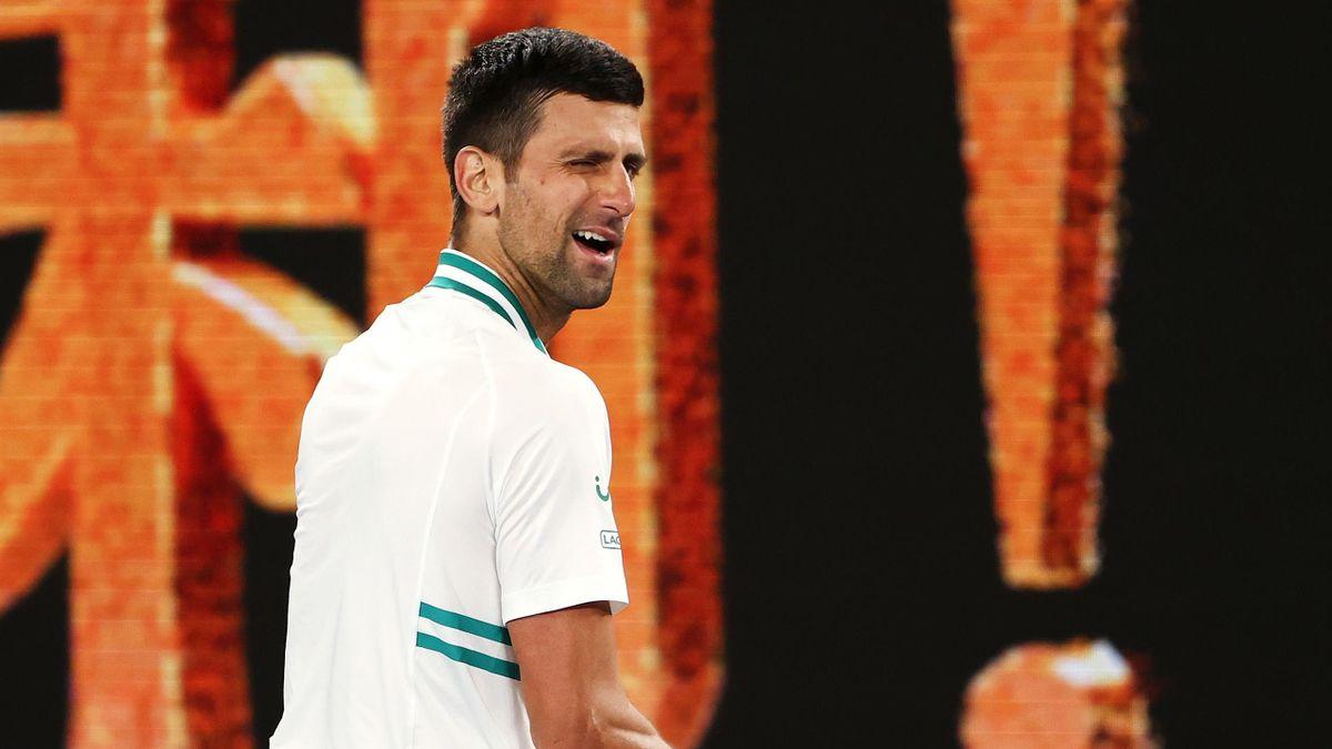 Novak Djokovic bei den Autsralian Open