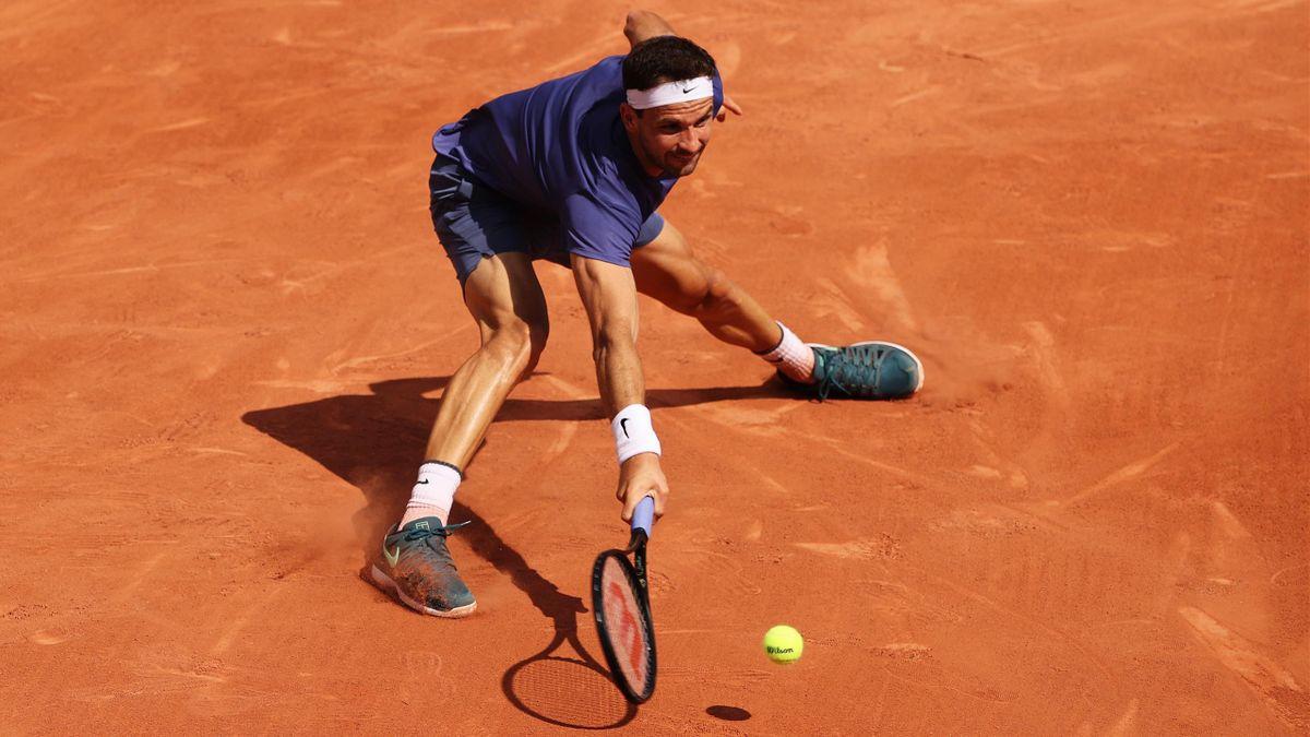 Grigor Dimitrov musste bei den French Open 2021 früh aufgeben