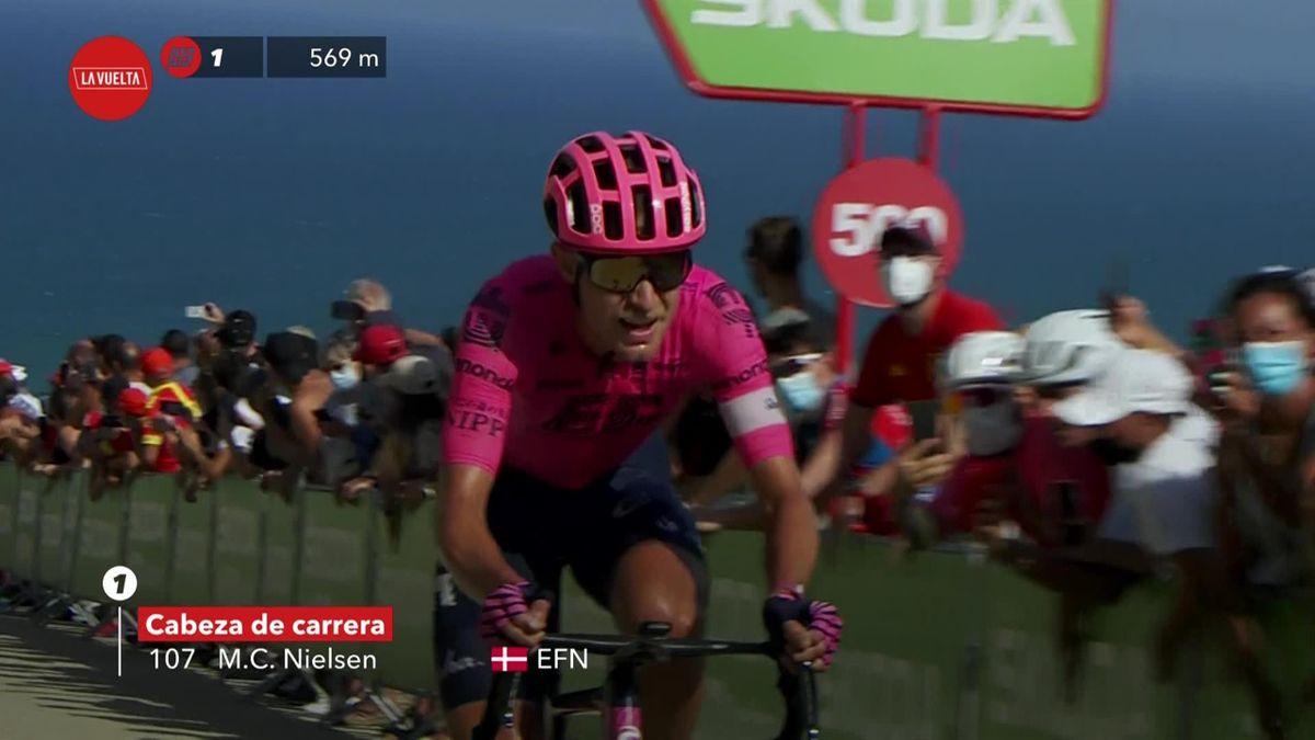 La Vuelta | Vluchter Cort Nielsen wordt dankzij vlotte klim beloond met dagwinst