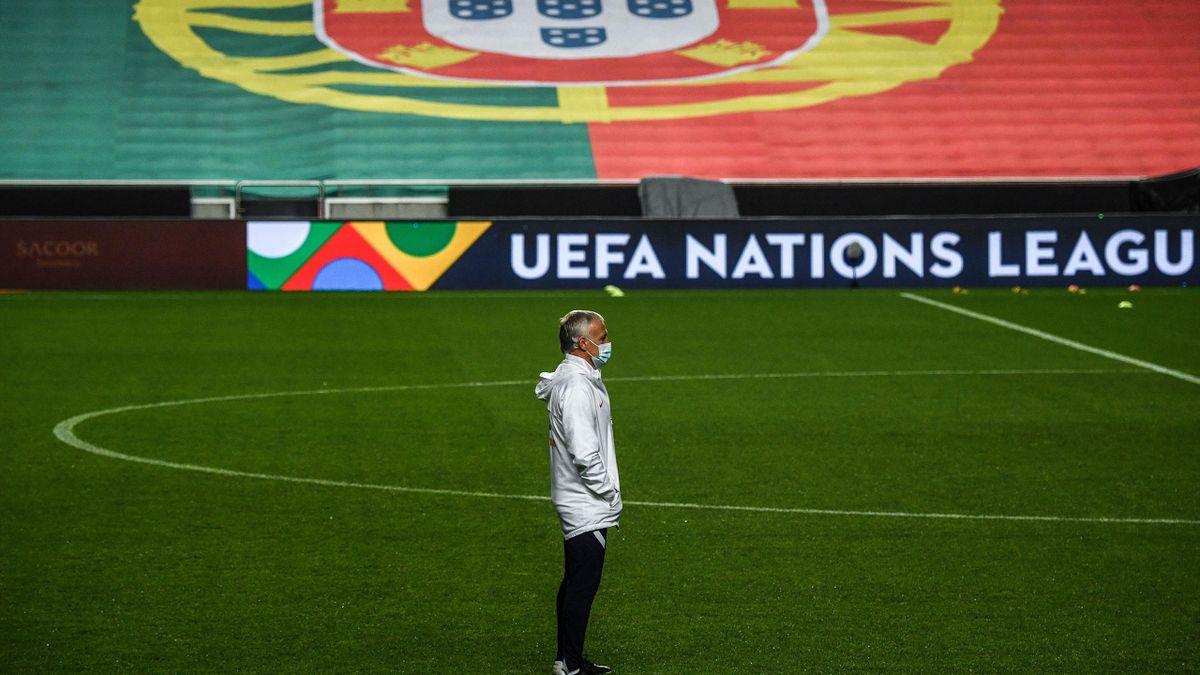 Didier Deschamps à Lisbonne