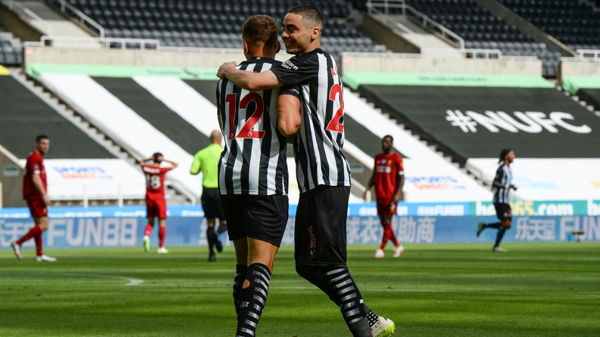 Dwight Gayle, Newcastle v Liverpool