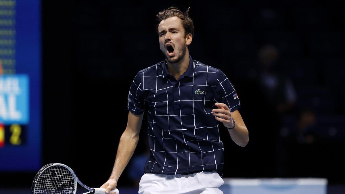 Daniil Medvedev, vainqueur de Rafael Nadal en demi-finale du Masters 2020