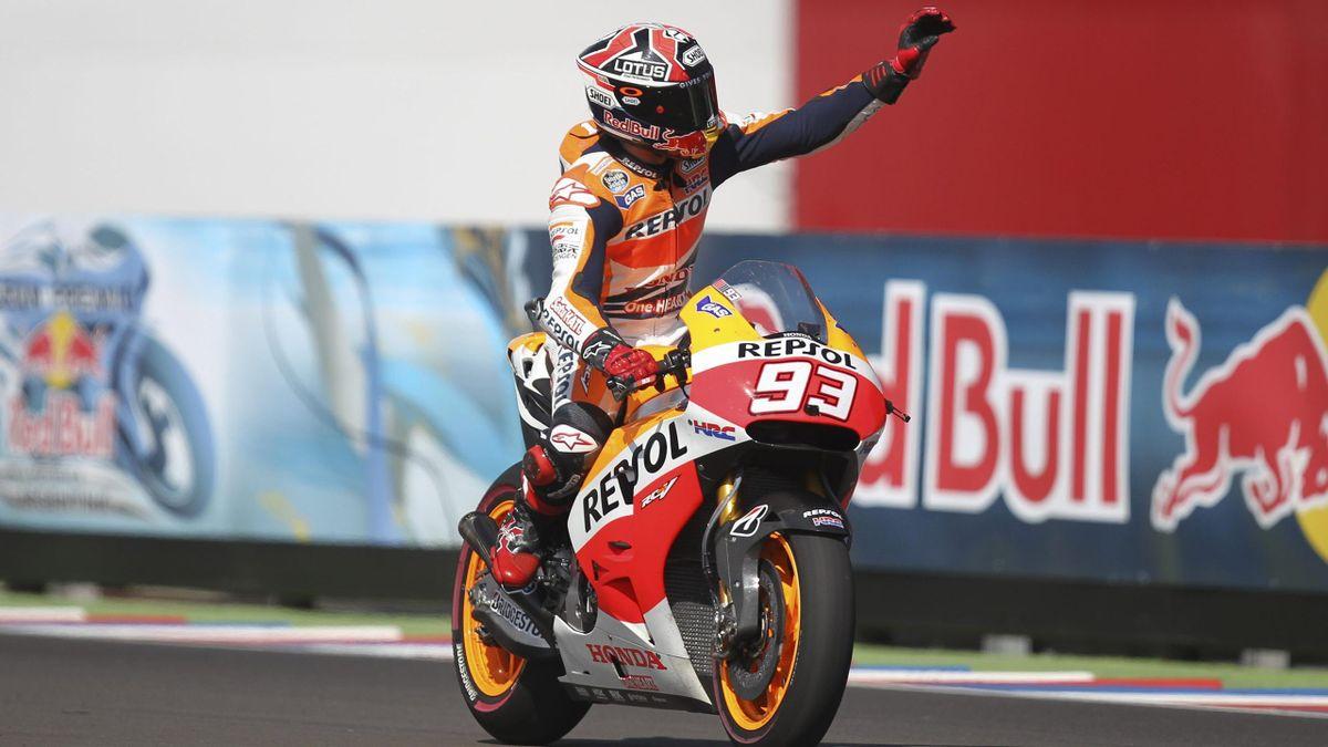 Marc Márquez (Honda) celebra una victoria