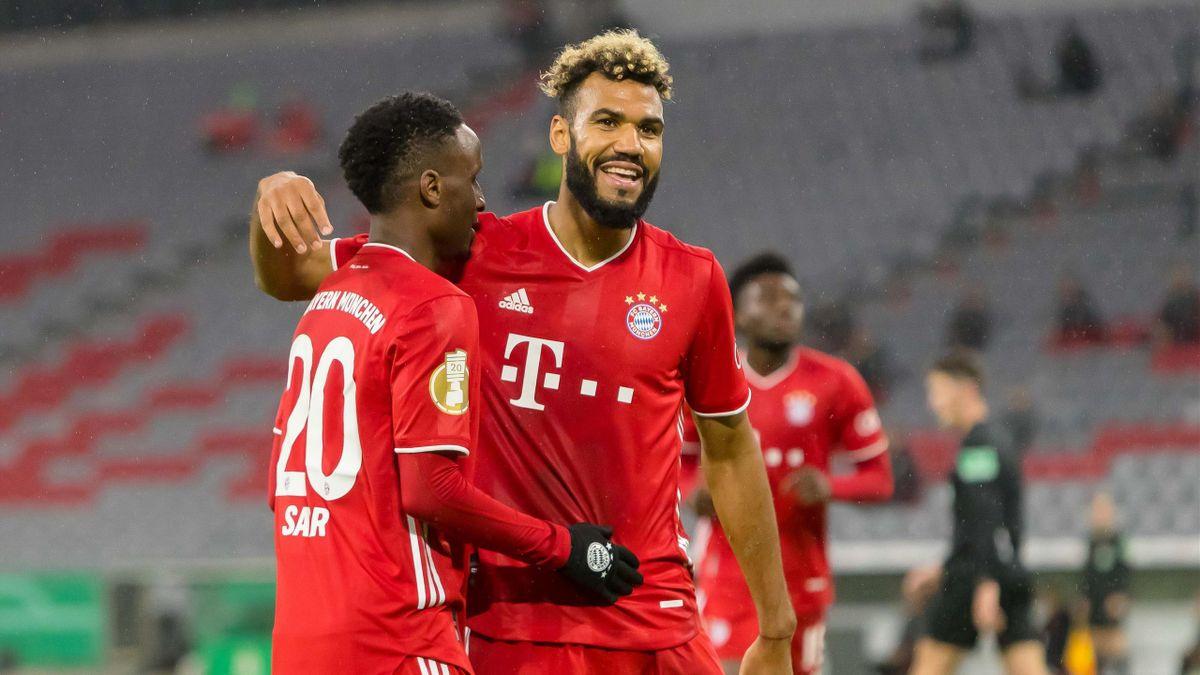 Eric Maxim Choupo-Moting (r.) steht kurz vor einer Vertragsverlängerung beim FC Bayern