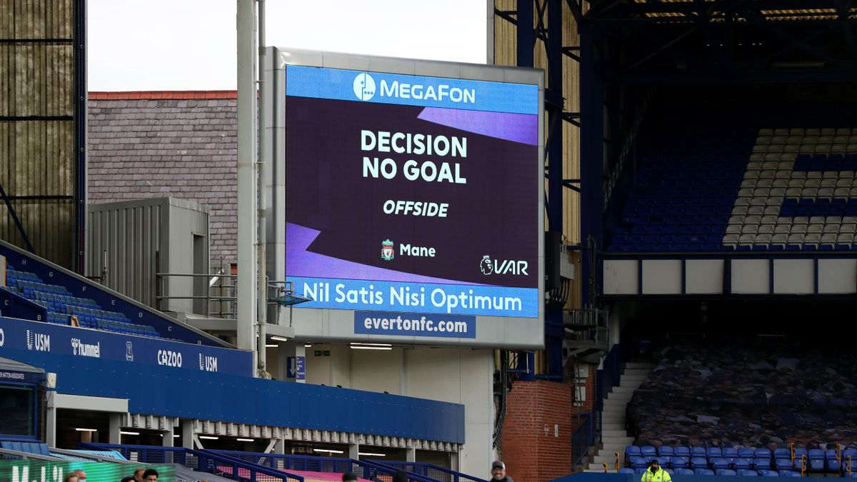 Liverpool have a late winner chalked off by VAR against Everton