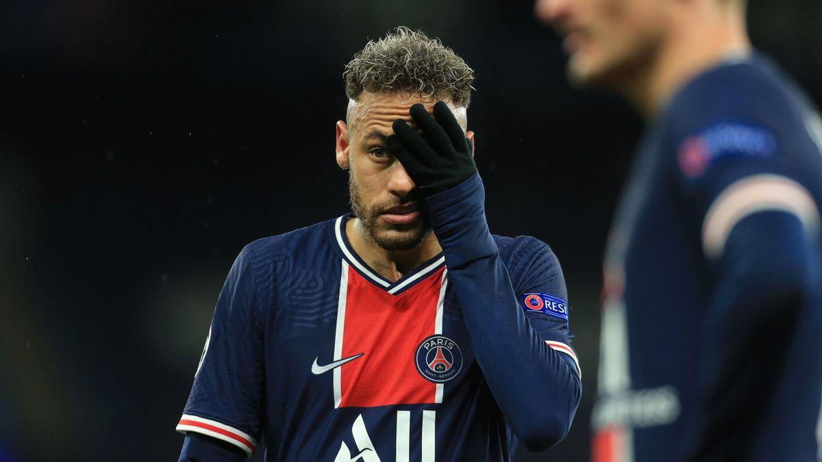 Neymar lors de la demie retour entre Man City et le PSG en Ligue des champions