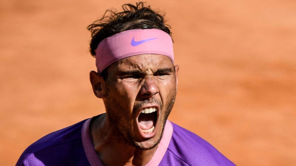 Rafael Nadal à Rome en 2021