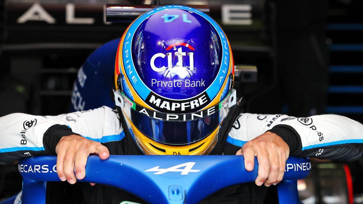Fernando Alonso (Alpine) aux essais d'Imola