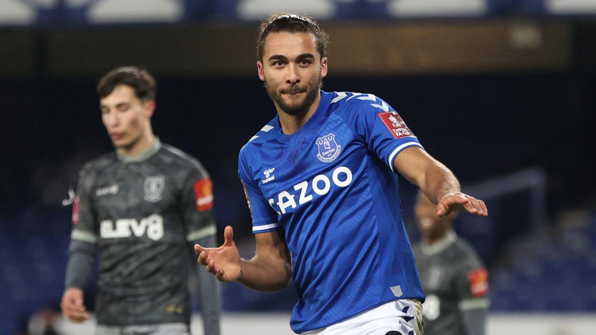 Dominic Calvert-Lewin of Everton celebrates
