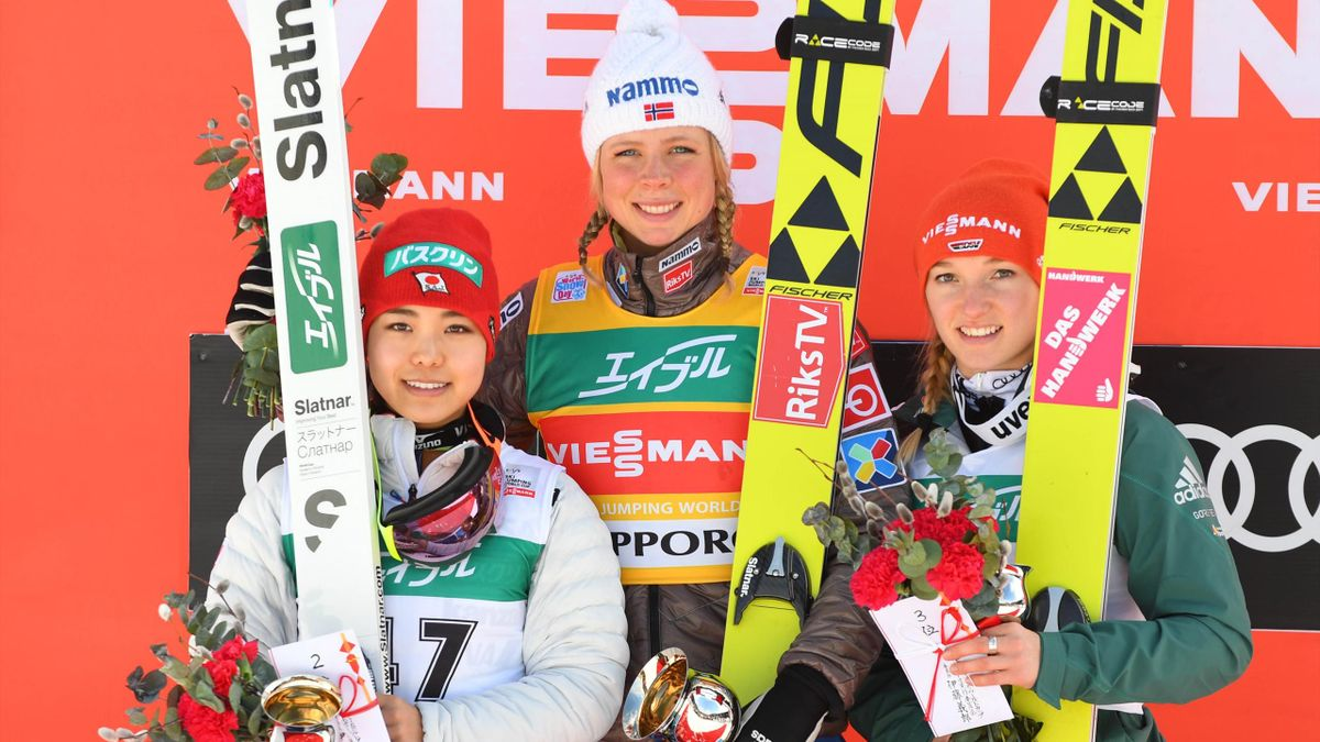 Sara Takanashi, Maren Lundby and Katharina Althaus