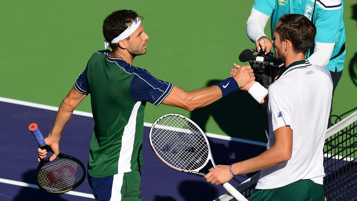 Grigor Dimitrov és Daniil Medvedev Indian Wellsben