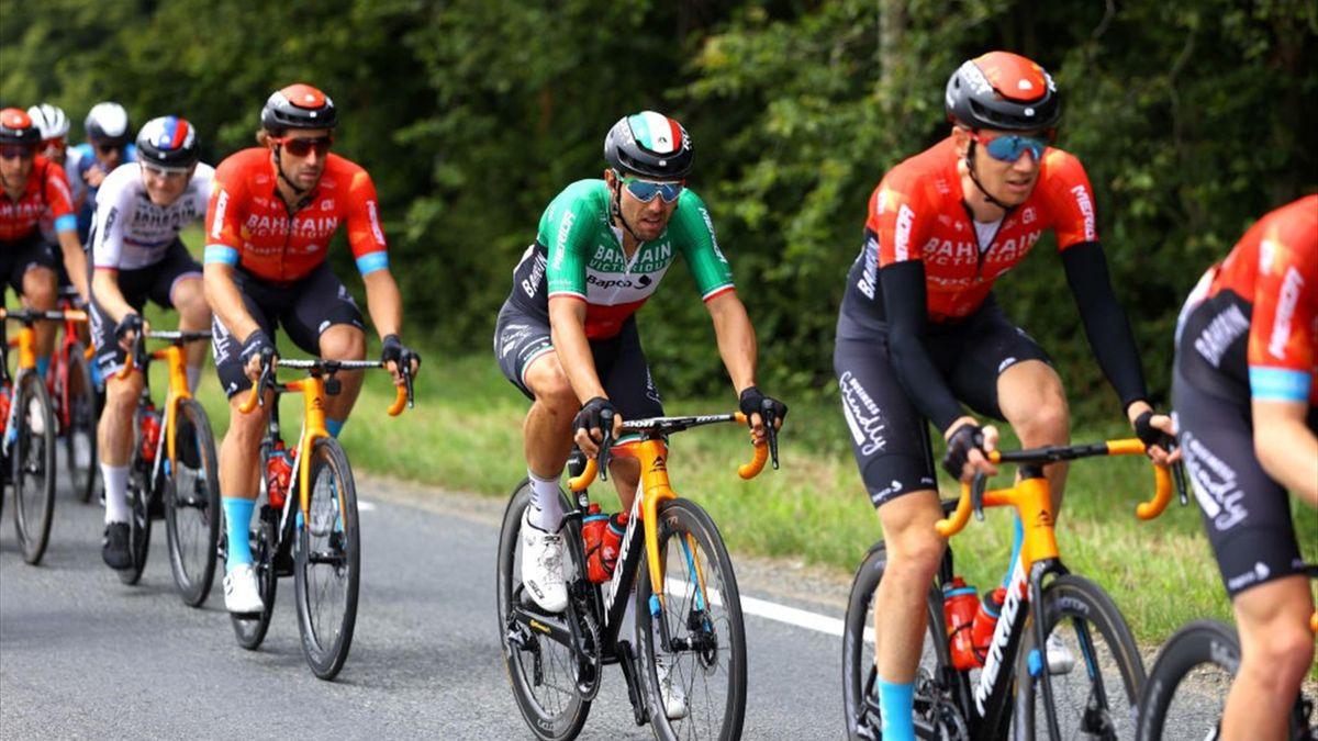 Sonny Colbrelli in azione durante il Tour de France 2021