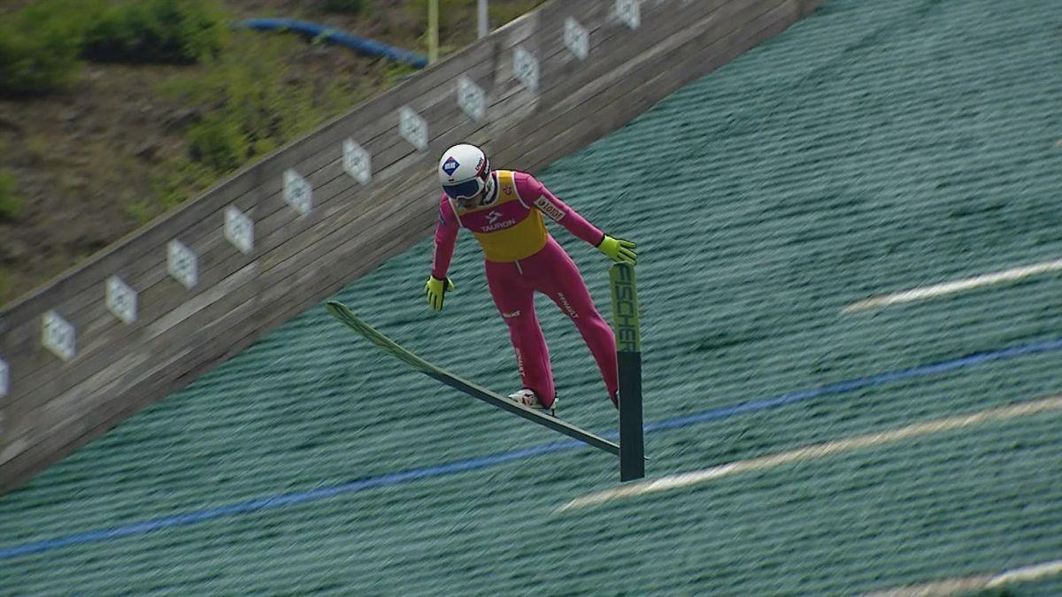 Ski Jump Wisla HS 134: Kamil Stoch jumps