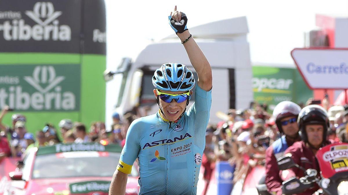 Miguel Angel Lopez lors de la 15e étape