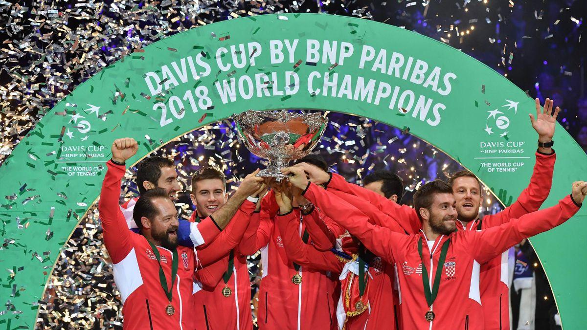 La Croatie, vainqueur de la Coupe Davis