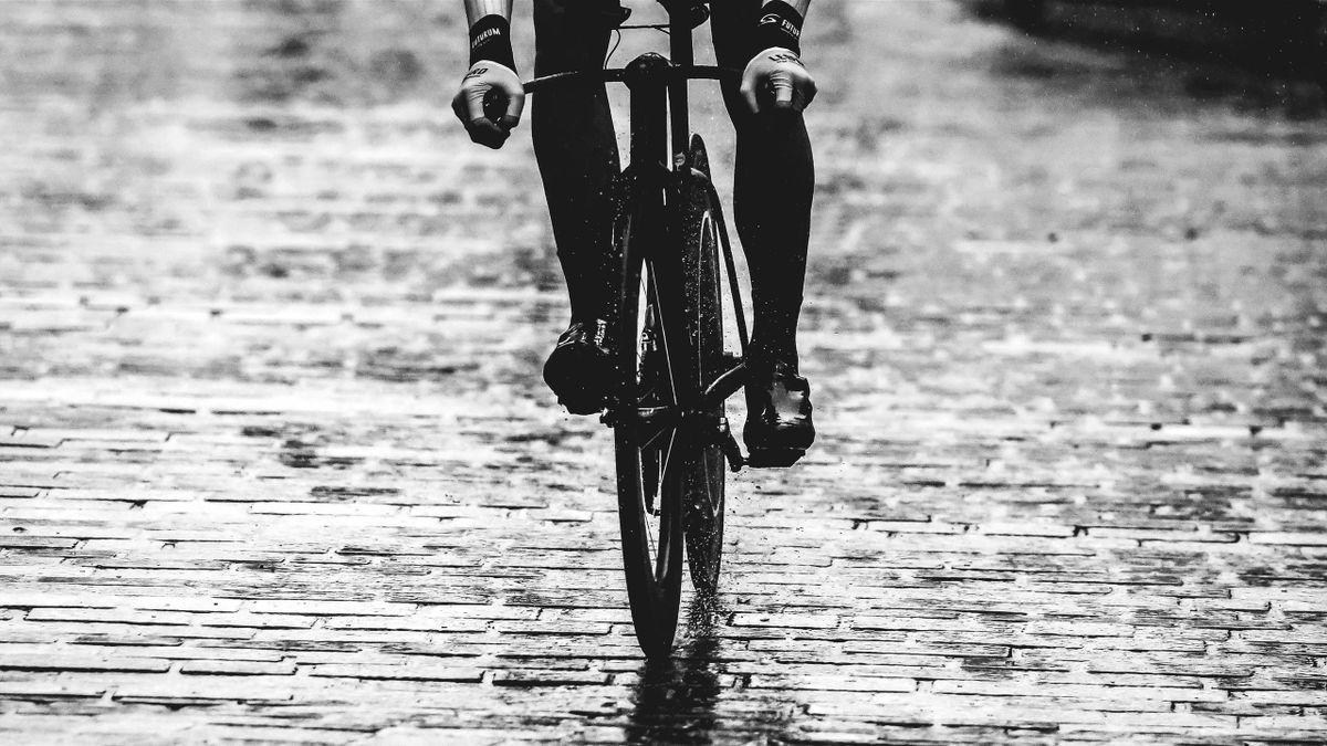 Cobblestones / Rain / Detail view / during the 92nd UCI Road World Championships 2019, Men U23 Individual Time Trial a 32km Individual Time Trial race from Ripon to Harrogate