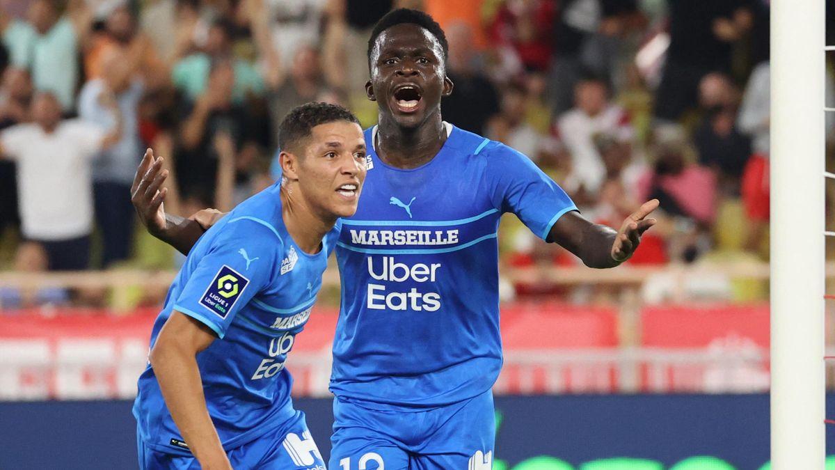Bamba Dieng a inscrit ses deux premiers buts en Ligue 1 et permis à l'OM de battre Monaco (2-0) lors de la 5e journée