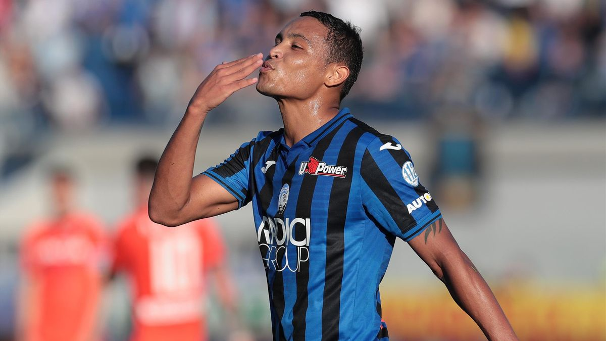 Luis Muriel esulta, Atalanta-Udinese, Getty Images
