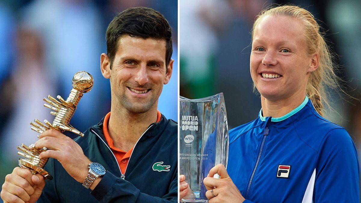 Novak Djokovic and Kiki Bertens won in Madrid in 2019