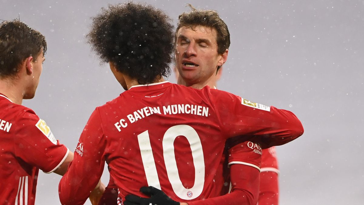 Leroy Sané and Thomas Müller