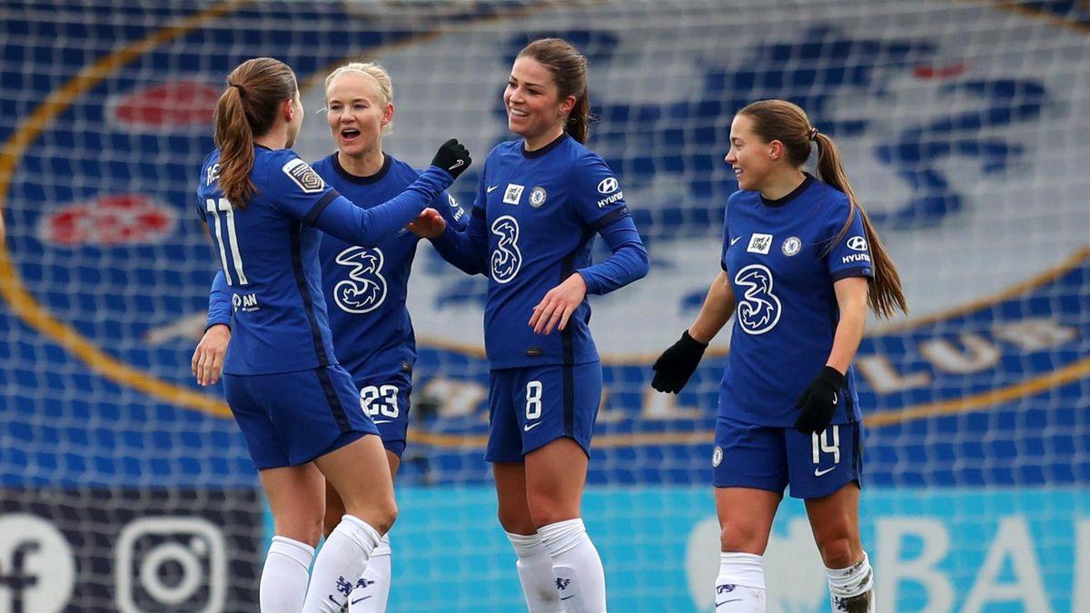 Pernille Harder avec Chelsea, l'une des places fortes d'une WSL en plein développement