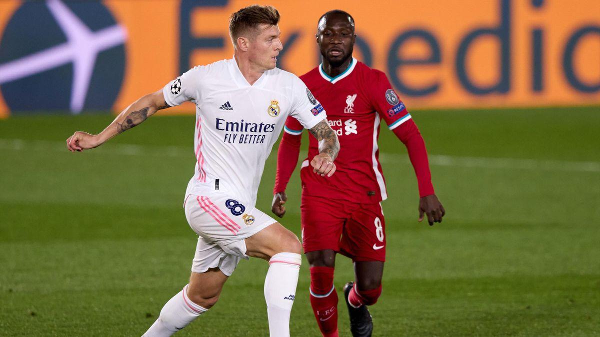 Toni Kroos im Spiel gegen den FC Liverpool