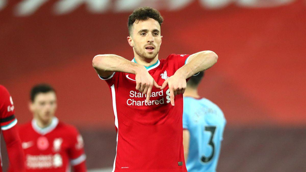 Diogo Jota of Liverpool celebrates