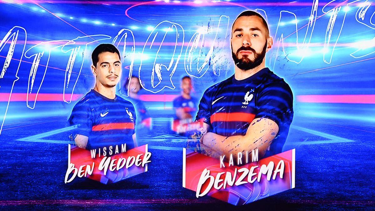 Karim Benzema (r.) steht nach über fünf Jahren wieder in Frankreichs EM-Kader