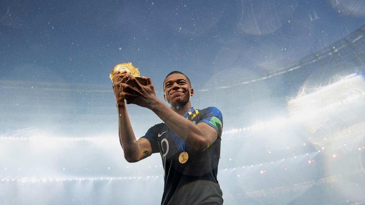 Kylian Mbappé, champion du monde 2018 avec les Bleus