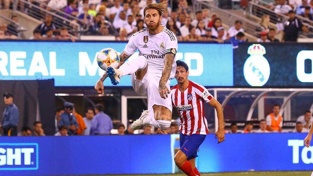 Серхио Рамос, «Реал» – «Атлетико» (Мадрид)