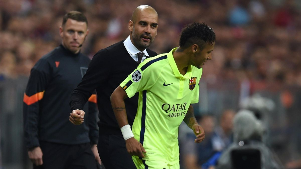Pep Guardiola and Neymar.