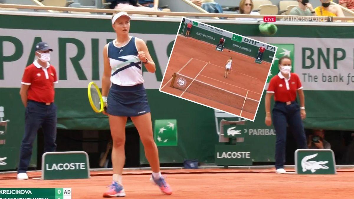 'Wow, strange!' - Pavlyuchenkova 'doesn't even chase' ball against Krejcikova