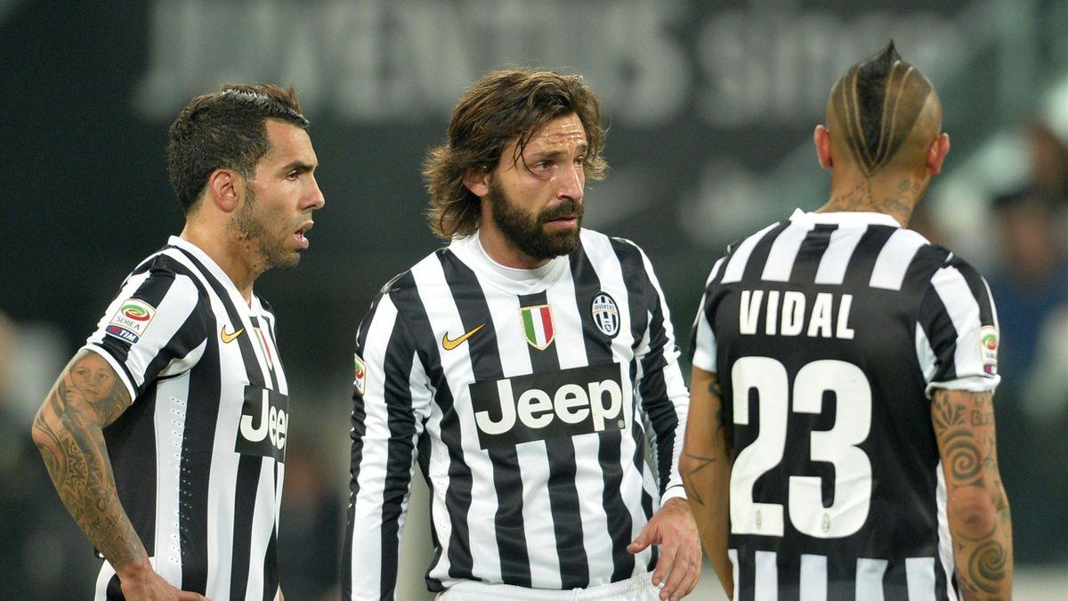 Vidal Tevez Pirlo Juventus