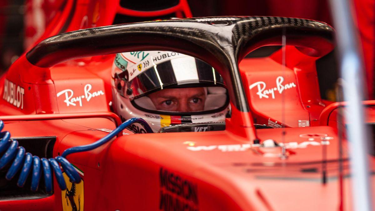 Sebastian Vettel im neuen Ferrari SF1000